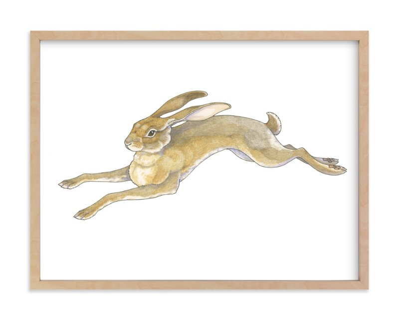 """Wild Hare"" - Art Print by Natalie Groves in beautiful frame options and a variety of sizes."