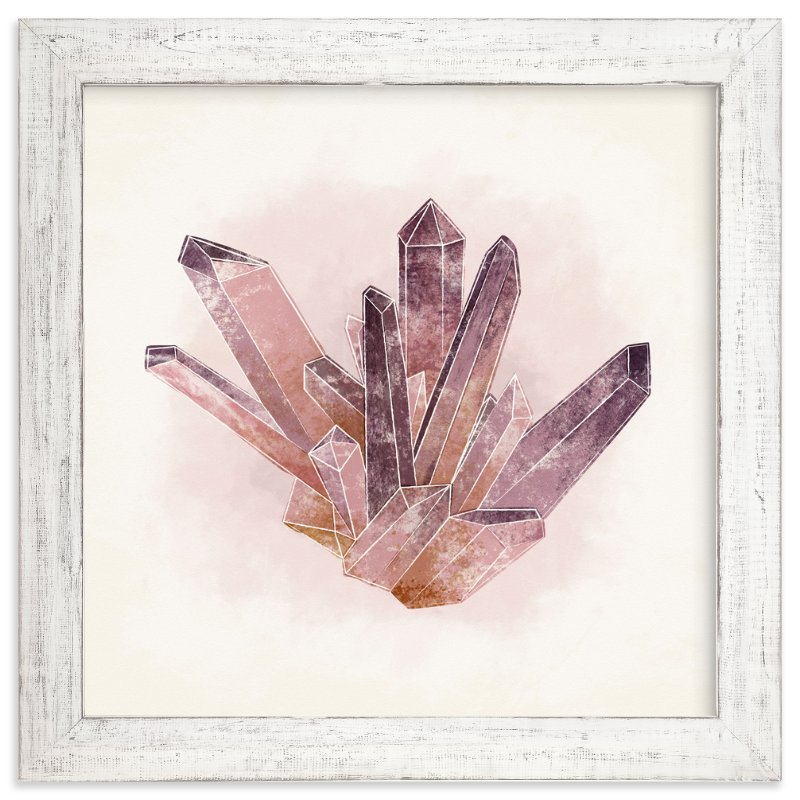 """""""Natural Amethyst"""" - Art Print by Eine Kleine Design Studio in beautiful frame options and a variety of sizes."""