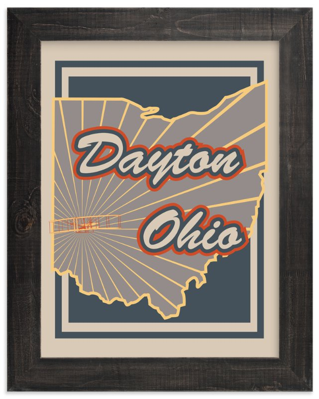 """""""Dayton Ohio"""" - Art Print by Nathan Poland in beautiful frame options and a variety of sizes."""