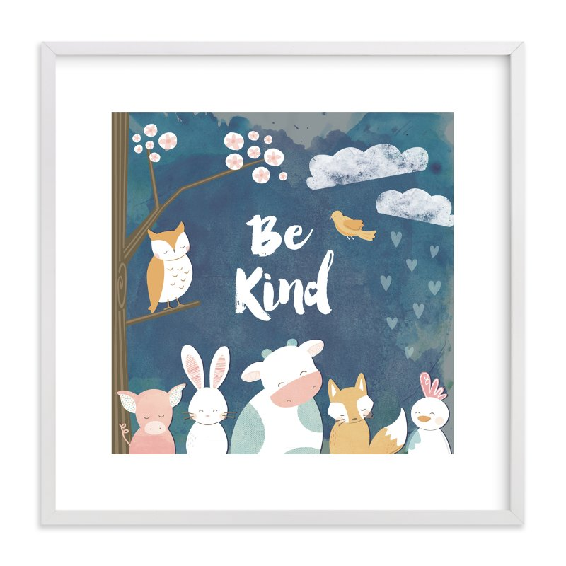 """kindness matters"" - Art Print by peetie design in beautiful frame options and a variety of sizes."