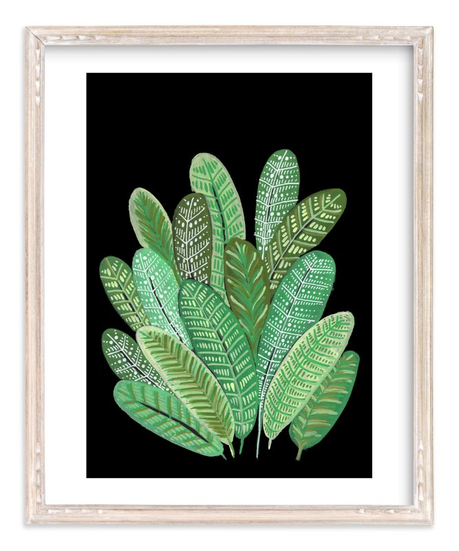 """""""Banana Leaf Bouquet II"""" - Art Print by Madeline Trait in beautiful frame options and a variety of sizes."""