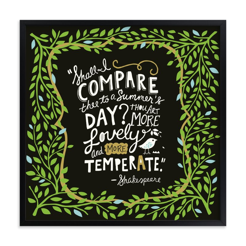 """""""Summer Sonnet"""" - Art Print by Griffinbell Paper Co. in beautiful frame options and a variety of sizes."""