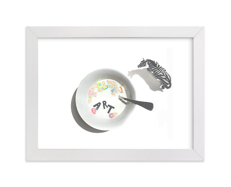 """Cereal & Milk"" - Limited Edition Art Print by Calais Le Coq in beautiful frame options and a variety of sizes."