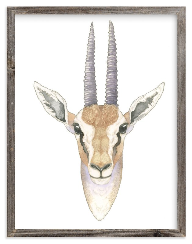 """African Gazelle"" - Art Print by Natalie Groves in beautiful frame options and a variety of sizes."