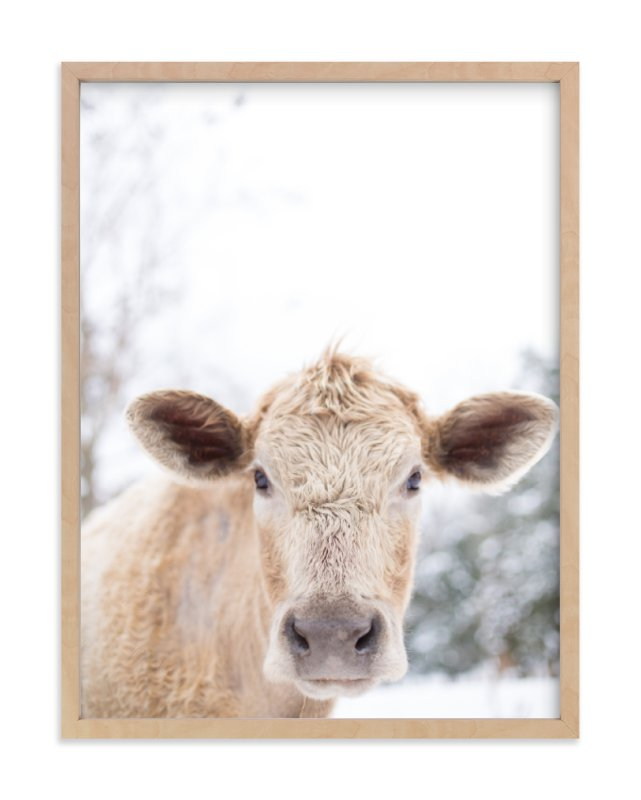 """moo cow"" - Art Print by Emily Gilbert in beautiful frame options and a variety of sizes."