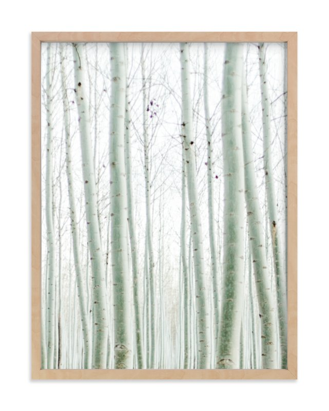"""Quiet Poplars"" - Art Print by Jenni Kupelian in beautiful frame options and a variety of sizes."