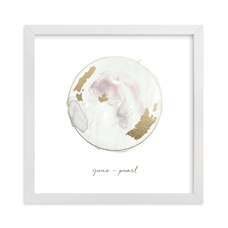 """June - Pearl"" - Foil-pressed Art Print by Naomi Ernest in beautiful frame options and a variety of sizes."