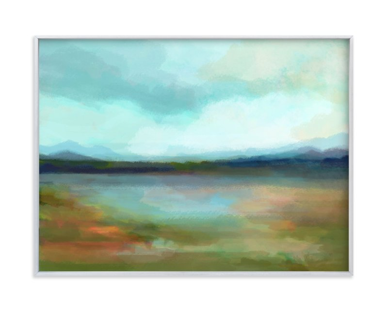 """Days of Blue"" - Art Print by Alison Jerry Designs in beautiful frame options and a variety of sizes."