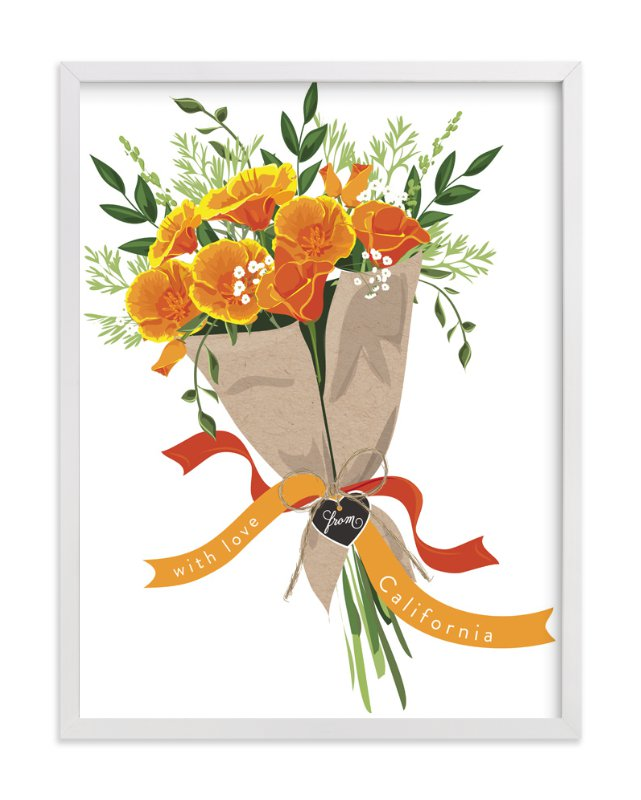 """California Poppy Bouquet"" - Art Print by Susan Moyal in beautiful frame options and a variety of sizes."