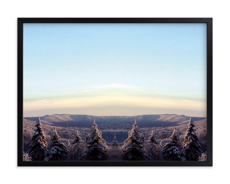 """Mountain Sunset"" - Art Print by Christina Flowers in beautiful frame options and a variety of sizes."
