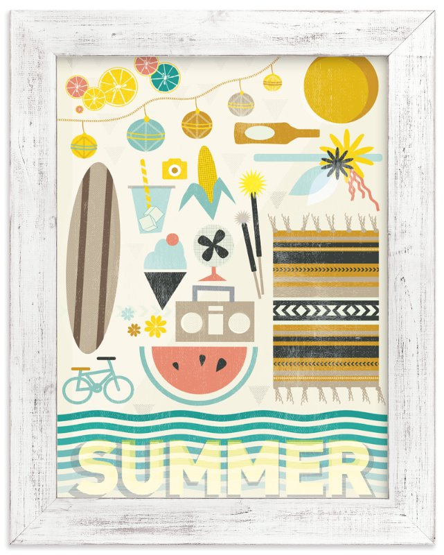 """4 Seasons : Summer"" - Art Print by Kate Capone aka Oh So Suite in beautiful frame options and a variety of sizes."