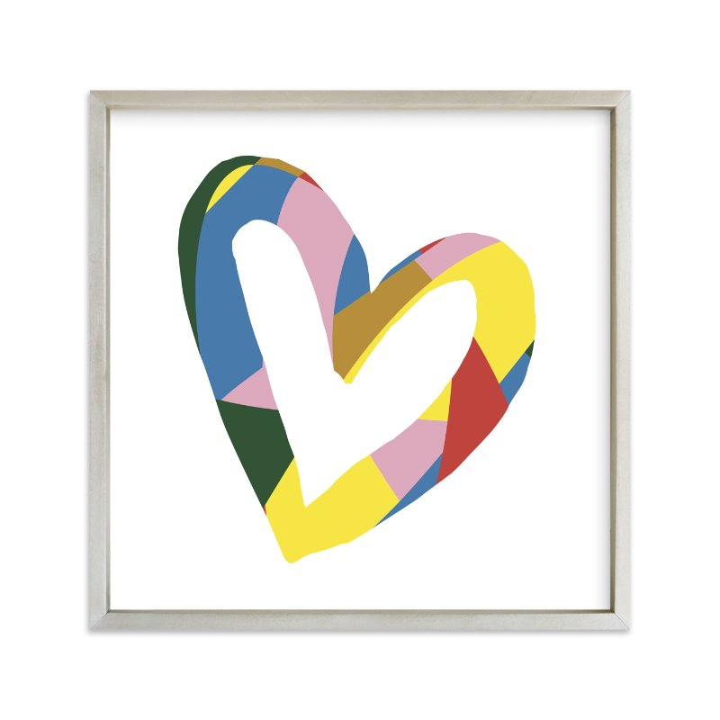 """Heart - Be Bright"" - Art Print by Christina Flowers in beautiful frame options and a variety of sizes."