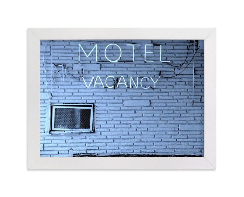 """""""No Vacancy"""" - Art Print by Jonathan Brooks in beautiful frame options and a variety of sizes."""