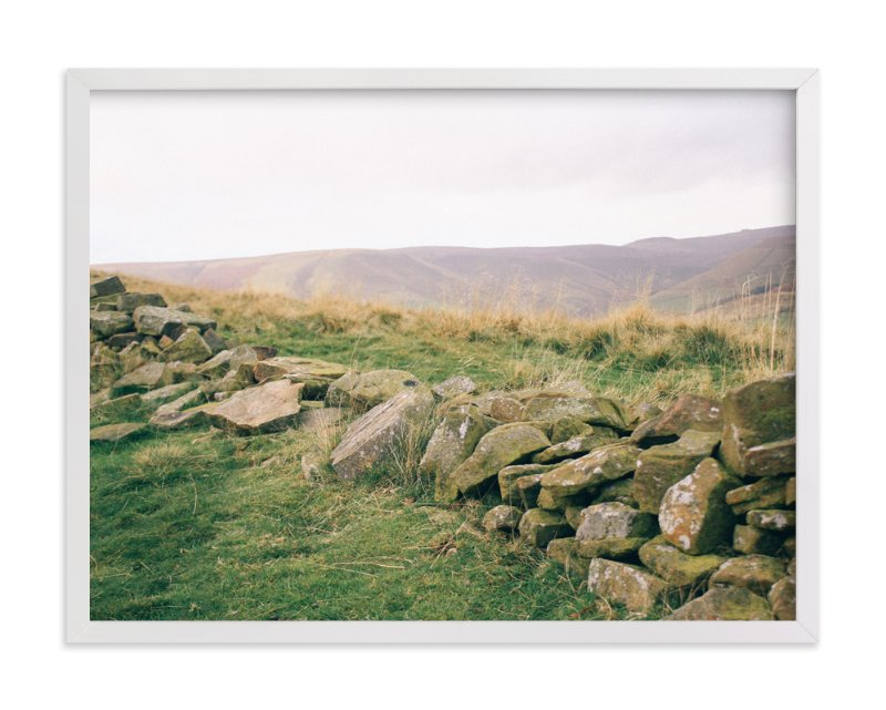 """""""Peak District No. 1"""" - Art Print by lulu and isabelle in beautiful frame options and a variety of sizes."""