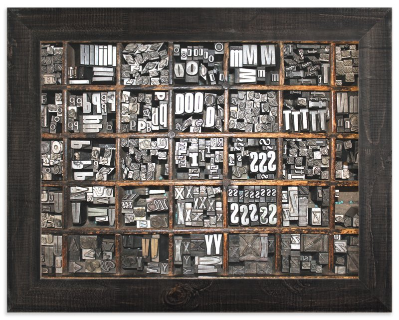 """""""Wood and Typography"""" - Art Print by Annie Montgomery in beautiful frame options and a variety of sizes."""
