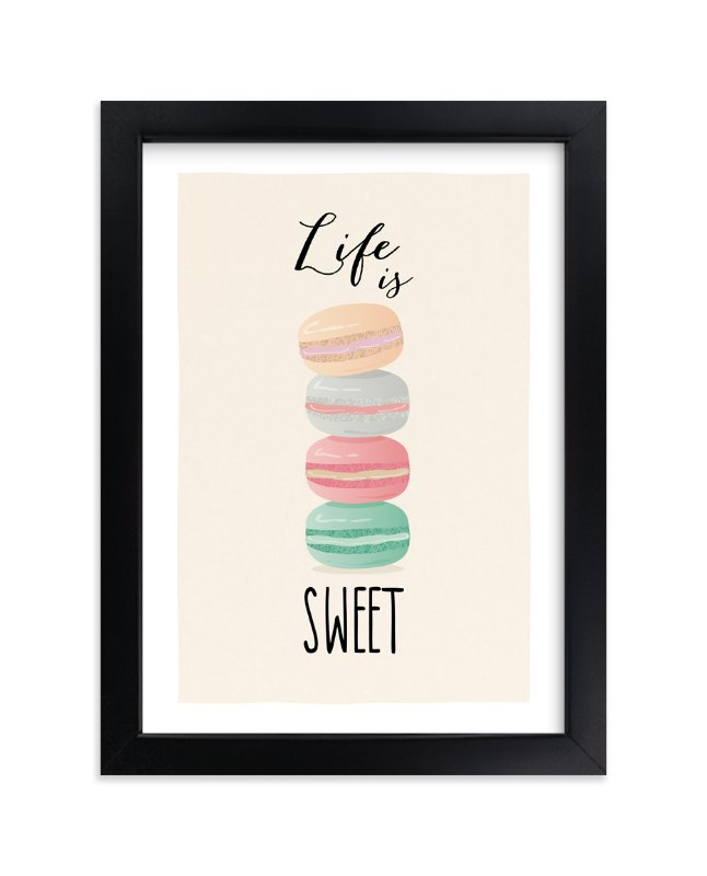 """""""Life is Sweet"""" - Art Print by Ana Sharpe in beautiful frame options and a variety of sizes."""
