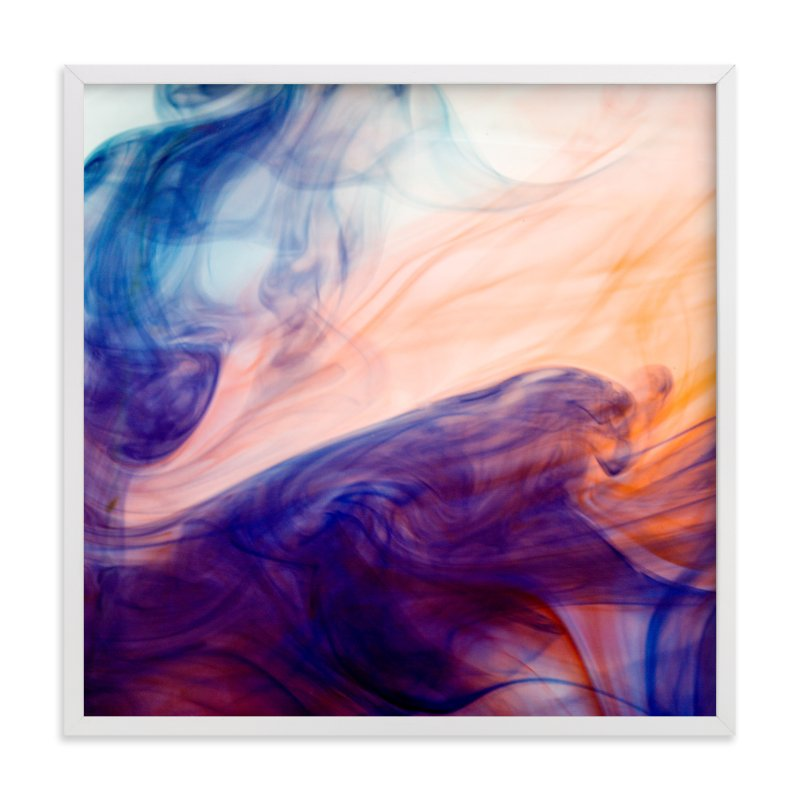 """""""Blue into Orange"""" - Art Print by Alexis Arnold in beautiful frame options and a variety of sizes."""