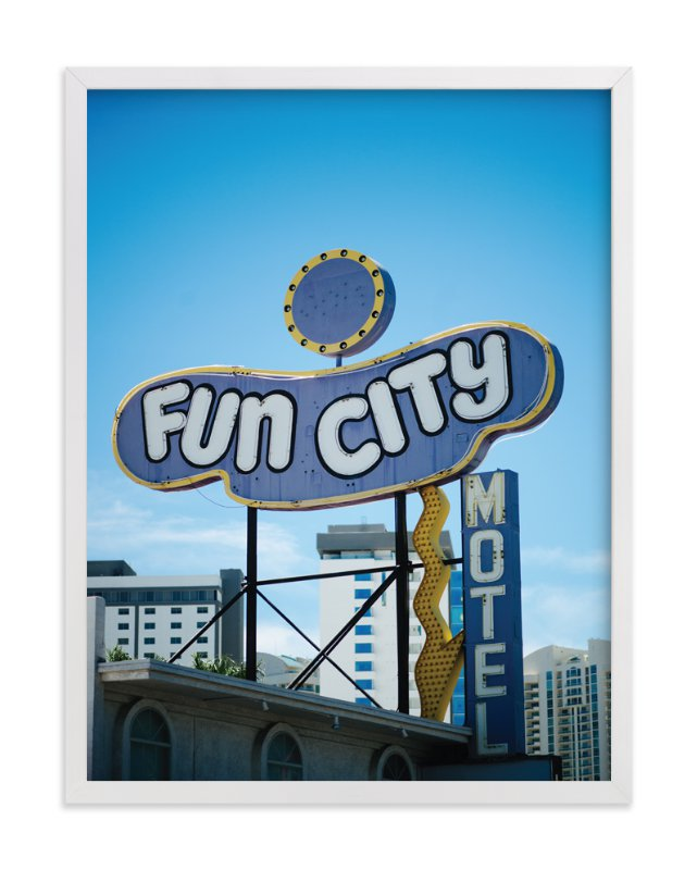 """Fun City"" - Art Print by Jennifer Little in beautiful frame options and a variety of sizes."
