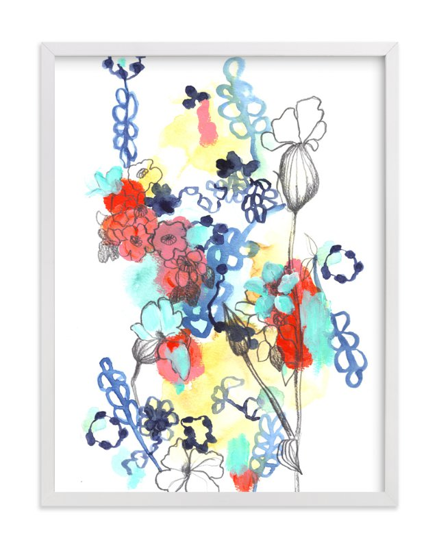 """Quirky Garden"" - Art Print by Sonal Nathwani in beautiful frame options and a variety of sizes."