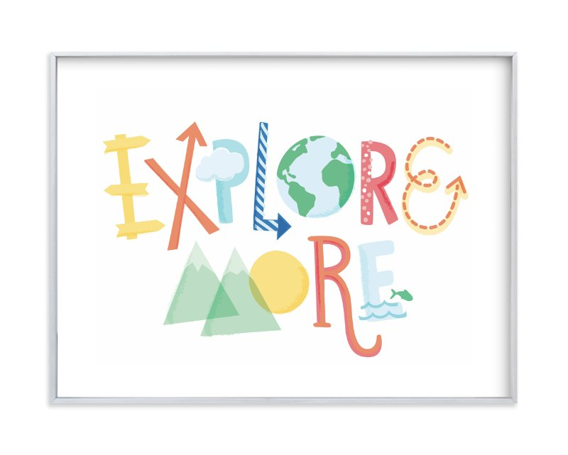 """Explore More"" - Art Print by Jessie Steury in beautiful frame options and a variety of sizes."