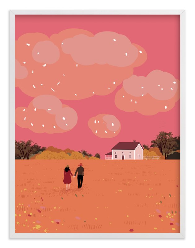 """""""let's grow old together"""" - Art Print by Yuke Li in beautiful frame options and a variety of sizes."""