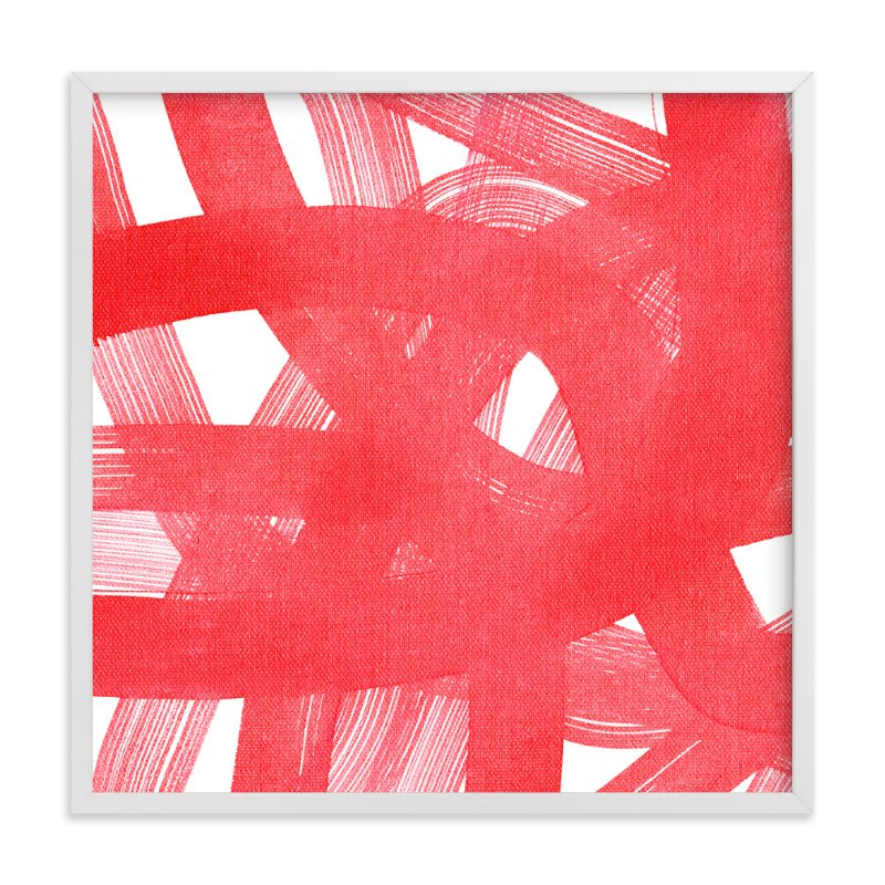 """Red Ribbons"" - Art Print by Kim Johnson in beautiful frame options and a variety of sizes."