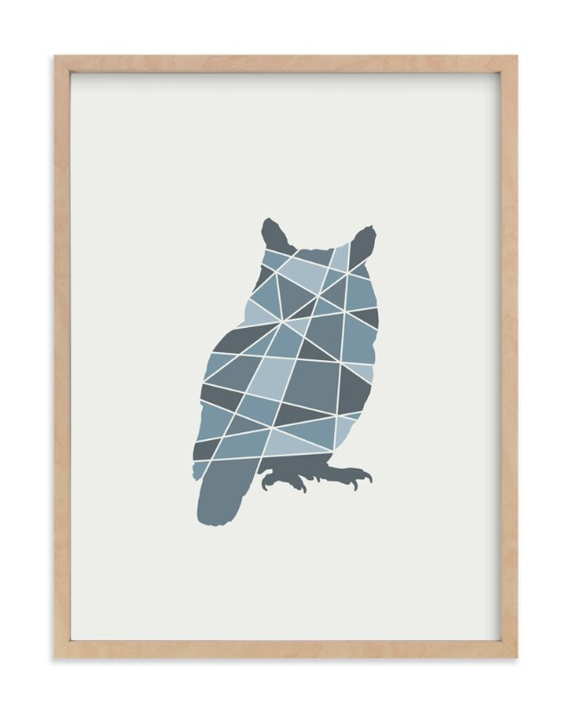 """Owl Geometry"" - Art Print by Jennifer Morehead in beautiful frame options and a variety of sizes."