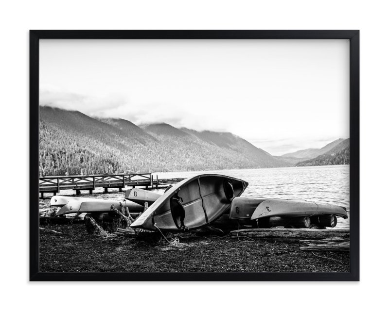 """""""Lonely Lakeside 1"""" - Art Print by Joey Crisostomo-Wynne in beautiful frame options and a variety of sizes."""