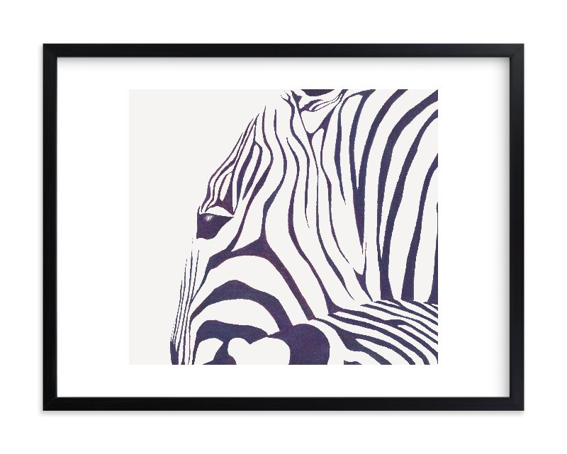"""Hello Zebra! "" - Limited Edition Art Print by Gaucho Works in beautiful frame options and a variety of sizes."