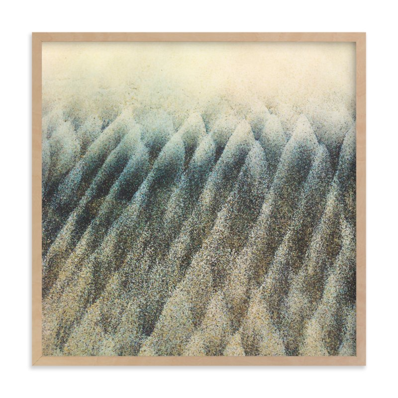 """Wave Trees Two"" - Art Print by Erin Ehman in beautiful frame options and a variety of sizes."