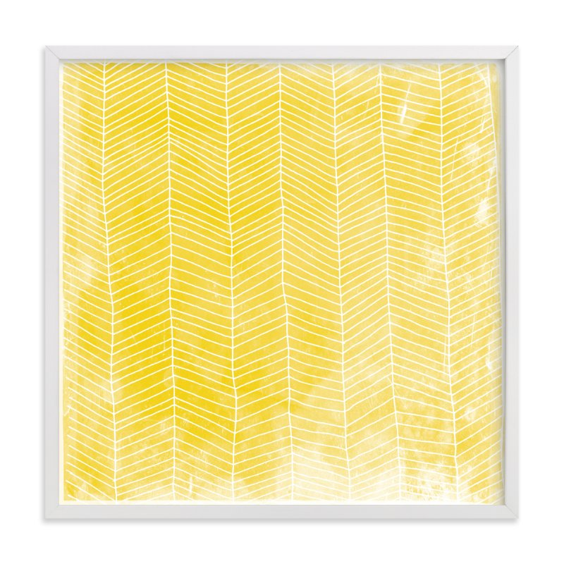 """Abstract Herringbone"" - Art Print by Paper Dahlia in beautiful frame options and a variety of sizes."