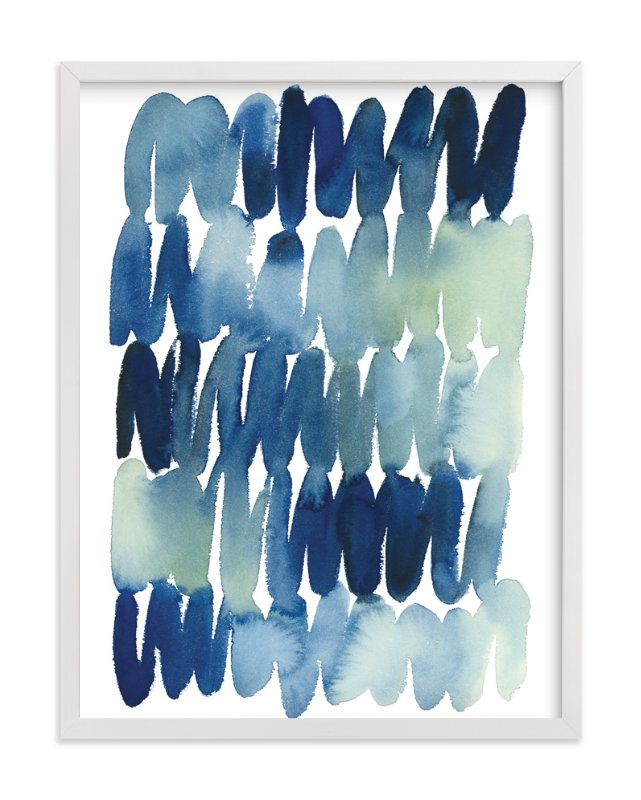"""""""Scribbles in Blue"""" - Art Print by Yao Cheng in beautiful frame options and a variety of sizes."""