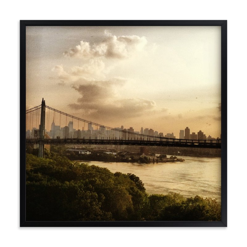 """NYC - Be An Explorer"" - Art Print by S.L. Bird in beautiful frame options and a variety of sizes."