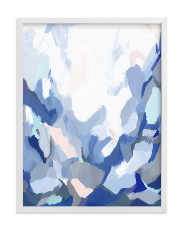 """Slopes"" - Art Print by Melanie Severin in beautiful frame options and a variety of sizes."
