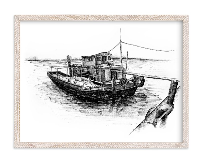"""Another Sketchy Boat "" - Art Print by Tung Tram in beautiful frame options and a variety of sizes."