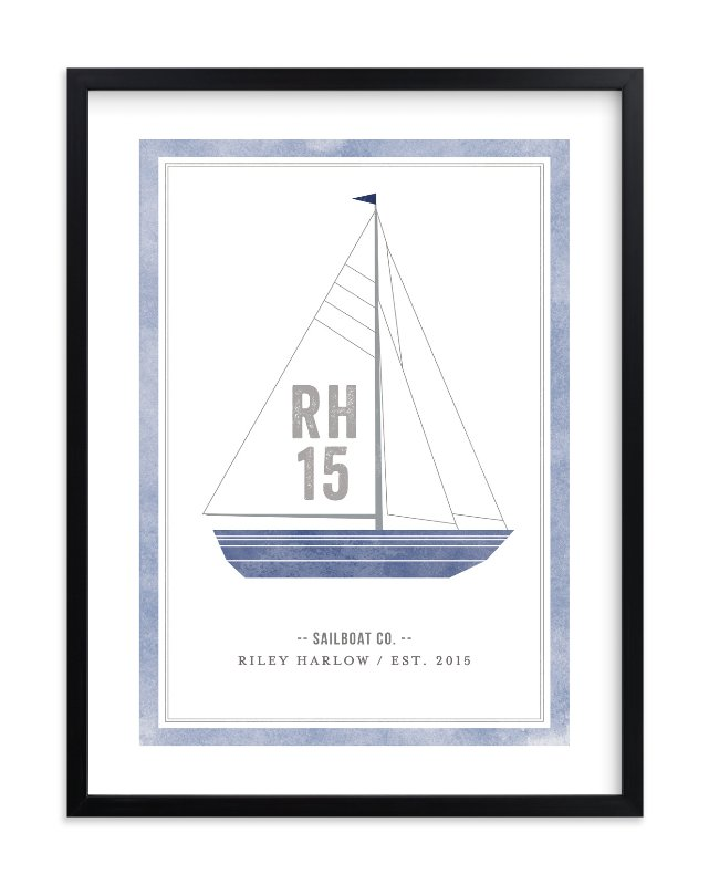 """Sailboat co."" - Children's Custom Art Print by cambria in beautiful frame options and a variety of sizes."