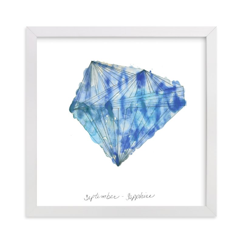 """""""September - Sapphire"""" - Art Print by Naomi Ernest in beautiful frame options and a variety of sizes."""