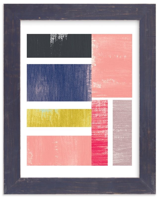 """Penny Stripe"" - Art Print by Melissa Kelman in beautiful frame options and a variety of sizes."