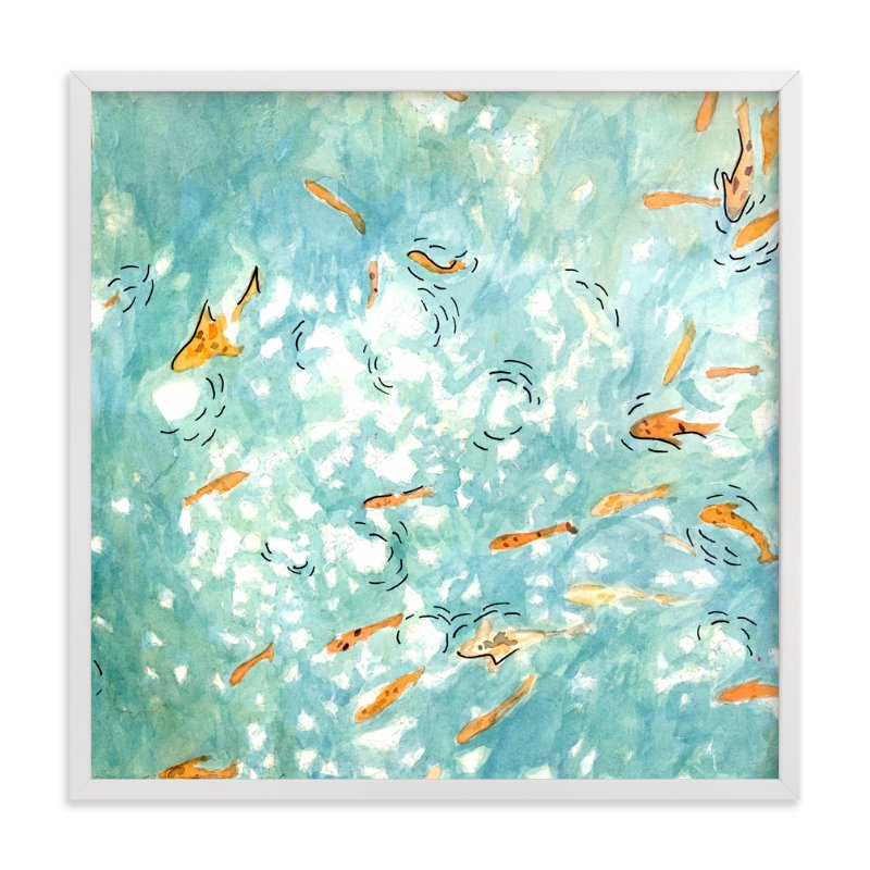 """""""Looking Down"""" - Art Print by Inkblot Paper in beautiful frame options and a variety of sizes."""
