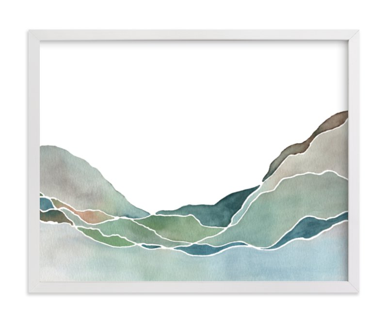 """Terrain No. 1"" - Art Print by Jennifer Daily in beautiful frame options and a variety of sizes."