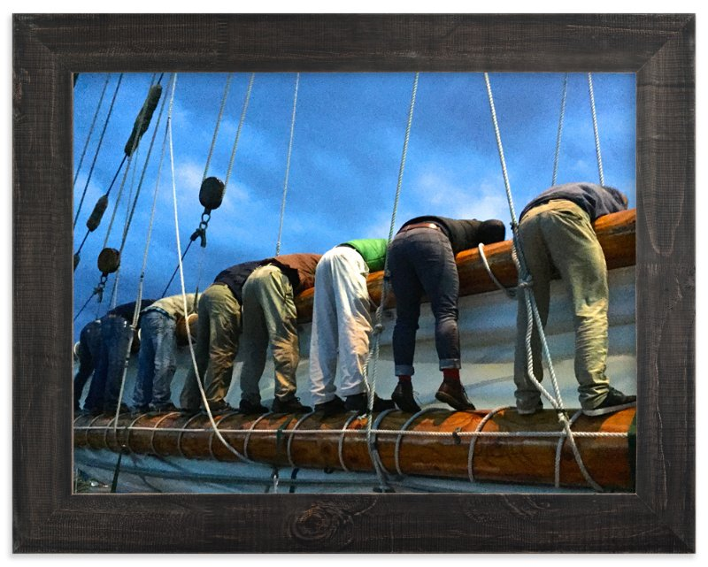 """Sailing Guys"" - Art Print by Jan Kessel in beautiful frame options and a variety of sizes."