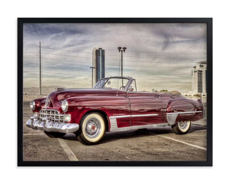 """""""48 Cadillac"""" - Art Print by Three Kisses Studio in beautiful frame options and a variety of sizes."""