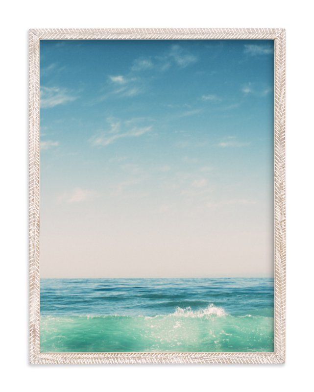 """Malibu Surf and Sky II"" - Art Print by Kamala Nahas in beautiful frame options and a variety of sizes."