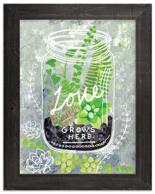 """'Love Grows Here'"" - Art Print by Ming Platt in beautiful frame options and a variety of sizes."