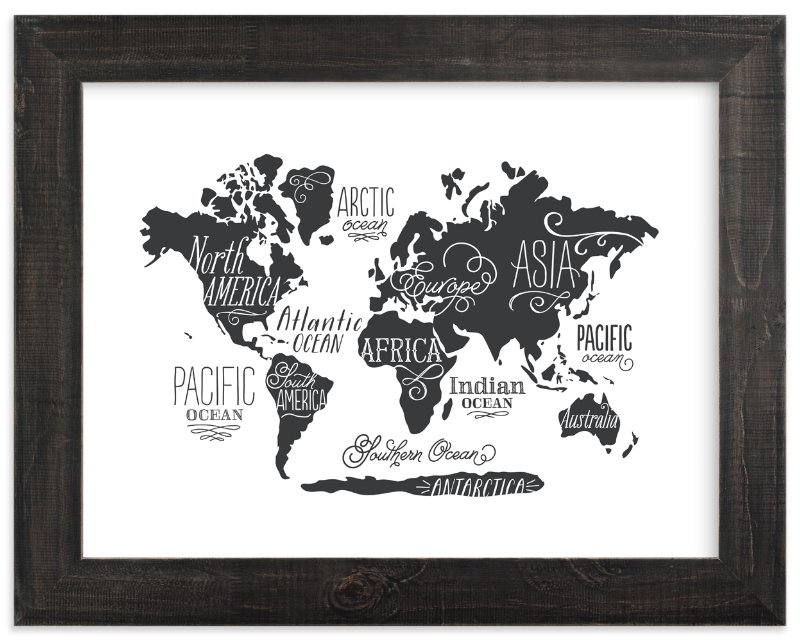 Whimsical world map wall art prints by jessie steury minted whimsical world map art print by jessie steury in beautiful frame options and gumiabroncs Choice Image