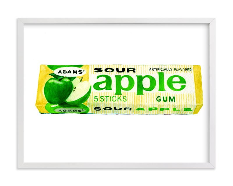 """""""Vintage Apple Gum Pop Art"""" - Art Print by Charlene Landry in beautiful frame options and a variety of sizes."""