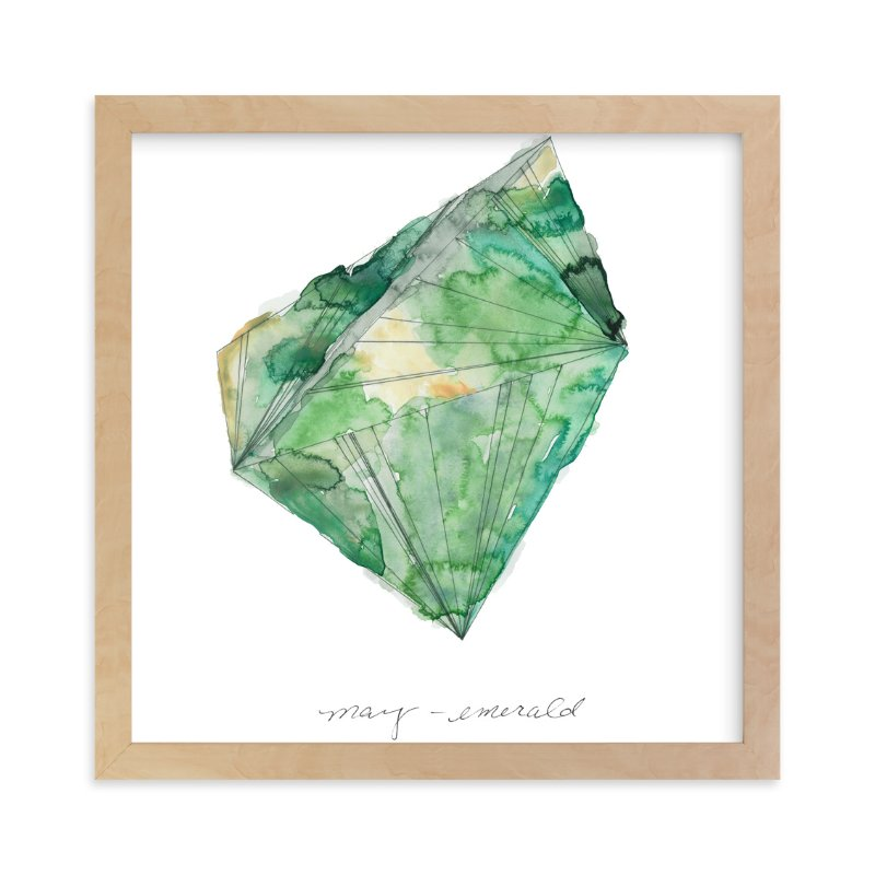 """""""May - Emerald"""" - Art Print by Naomi Ernest in beautiful frame options and a variety of sizes."""