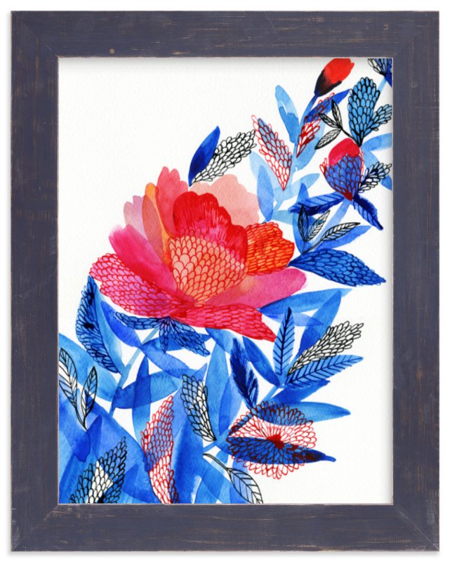 """Flower"" - Art Print by Alexandra Dzh in beautiful frame options and a variety of sizes."