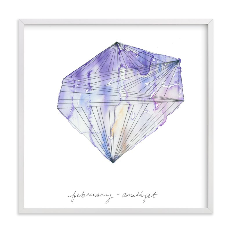 """February - Amethyst"" - Art Print by Naomi Ernest in beautiful frame options and a variety of sizes."