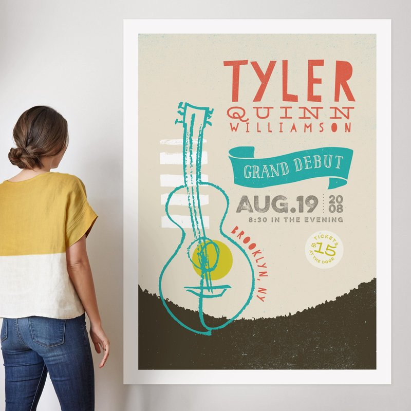 """""""Concert Poster"""" - Children's Custom Art Print by Stacy Kron in beautiful frame options and a variety of sizes."""